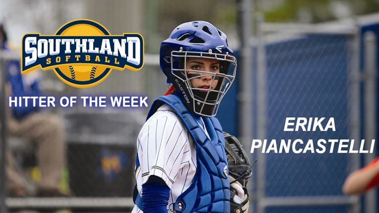 Erika Piancastelli Named SLC Hitter of the Week (3rd time)