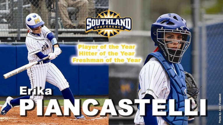Erika Piancastelli-SLC Player, Hitter, Freshman of the Year