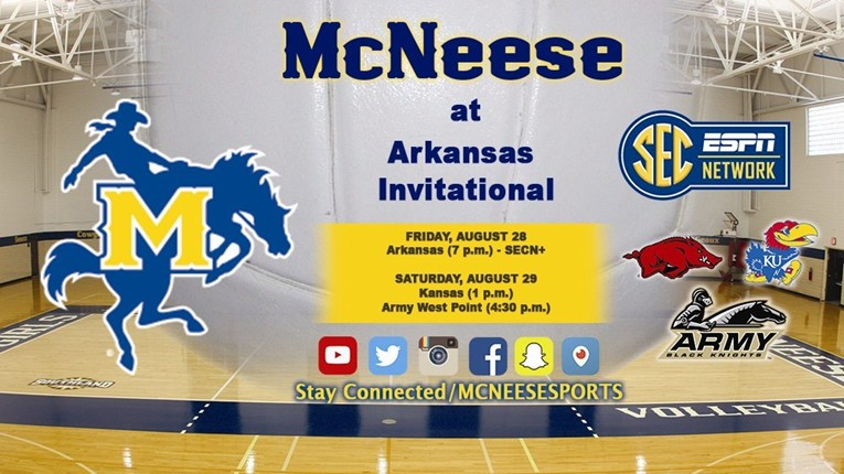 VB Begins Season Against Arkansas
